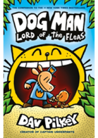 book cover for  Dog Man 5: Lord of the Fleas PB   Pilkey Dav, ISBN:  9781407192161