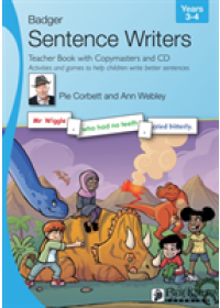 book cover for  Sentence Writers Teacher Book with Copymasters and CD: Years 3-4   Corbett Pie, ISBN:  9781788375474